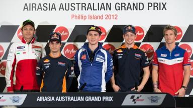Rossi, Pedrosa, Lorenzo, Stoner, Ellison, AirAsia Australian Grand Prix Press Conference