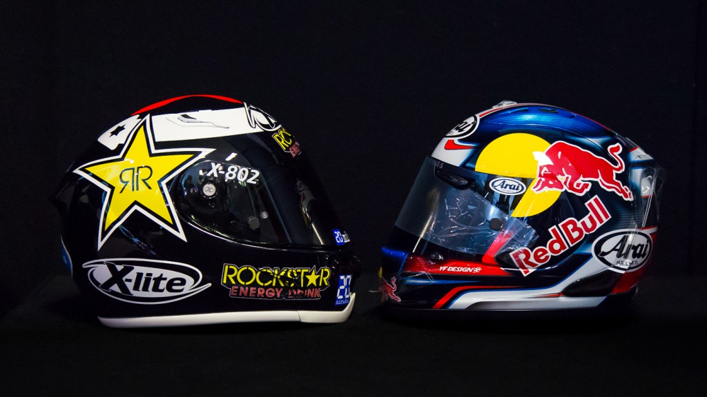 Lorenzo & Pedrosa Helmets