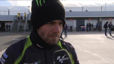 Ill Crutchlow on the pace from day one