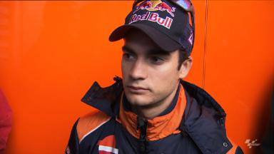 Positive first day for Pedrosa