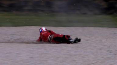 Phillip Island 2012 - Moto2 - FP2 - Action - Ricard Cardus - Crash