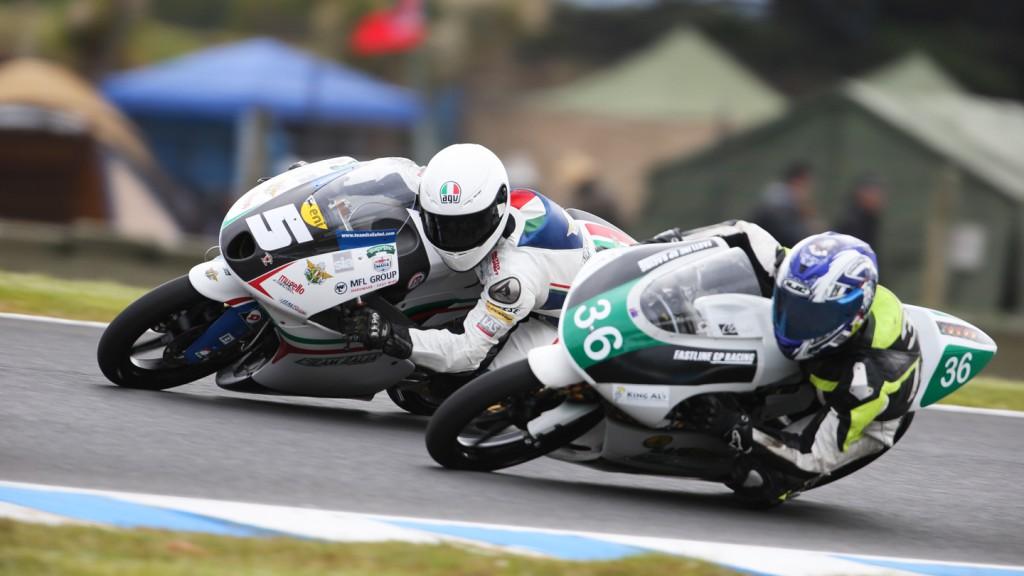 Romano Fenati, Sam Clark, Team Italia FMI, Fastline GP Racing, Phillip Island FP2