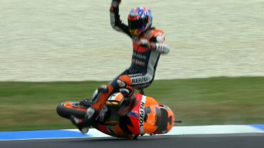 Phillip Island 2012 - MotoGP - QP - Action - Casey Stoner - Crash