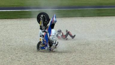 Phillip Island 2012 - Moto2 - FP3 - Action - Marco Colandrea - Crash