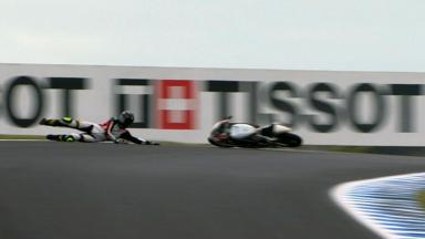 Phillip Island 2012 - Moto3 - FP3 - Action - Toni Finsterbusch - Crash