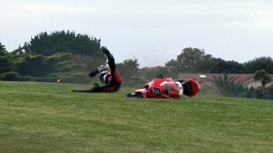 Phillip Island 2012 - Moto3 - FP3 - Action - Zulfahmi Khairuddin - Crash