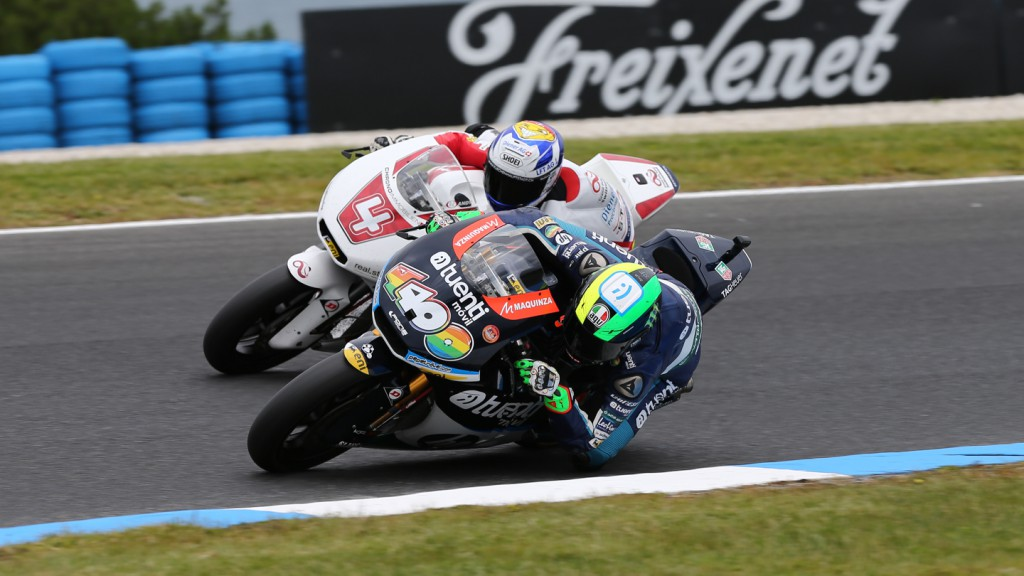 Randy Krummenacher, Pol Espargaro, GP Team Switzerland, Tuenti Movil HP 40, Phillip Island QP
