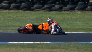Phillip Island 2012 - MotoGP - RACE - Action - Dani Pedrosa - Crash