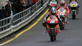 Repsol Honda Team's Casey Stoner asserted his dominance one more time ahead of the AirAsia Australian Grand Prix at Phillip Island as he went quickest in warm-up ahead of Jorge Lorenzo and Dani Pedrosa.