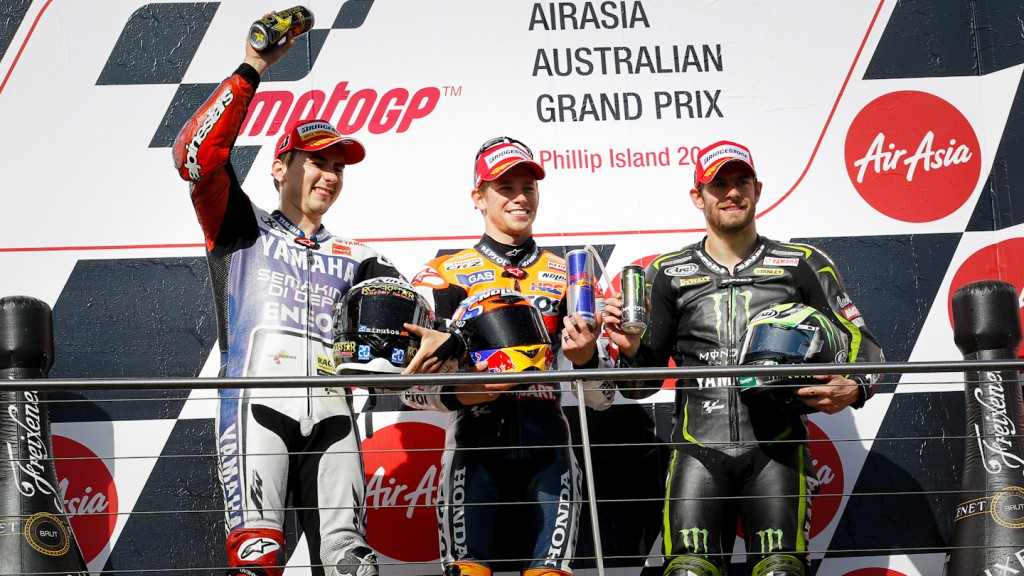 Lorenzo, Stoner, Crutchlow, Yamaha Factory Racing, Repsol Honda Team, Monster Yamaha Tech 3