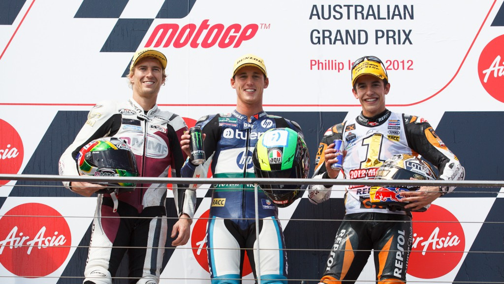 West, Espargaro, Marquez, QMMF Racing Team, Tuenti Movil HP 40, Team CatalunyaCaixa Repsol, Phillip Island RAC
