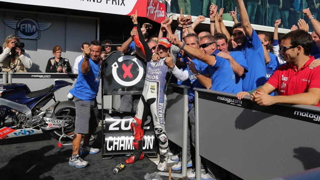 2012 MotoGP World Champion Jorge Lorenzo, Yamaha Factory Racing, Phillip Island RAC