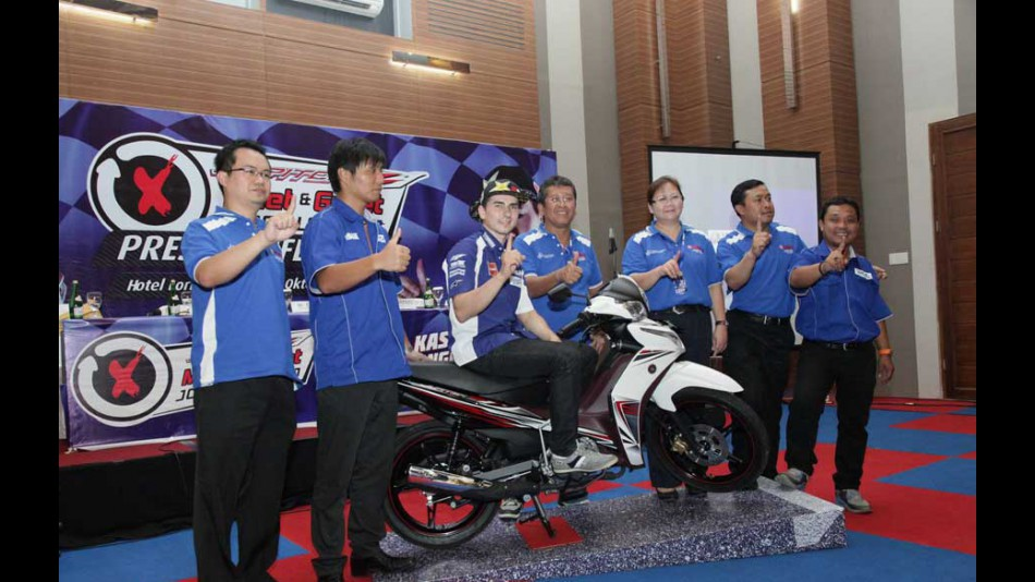 Lorenzo at Yamaha Indonesia Meet & Greet event
