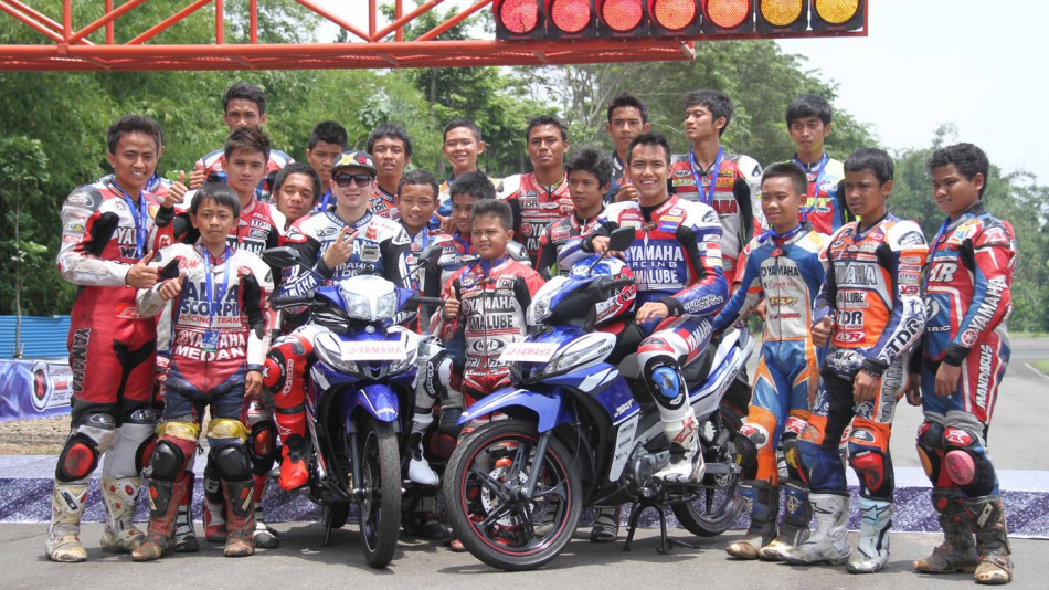 Jorge Lorenzo at the Yamaha Racing Academy in Sentul