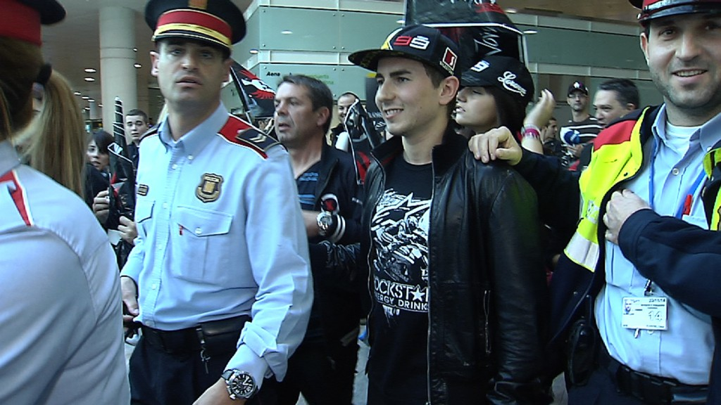 Jorge Lorenzo arrives in Barcelona
