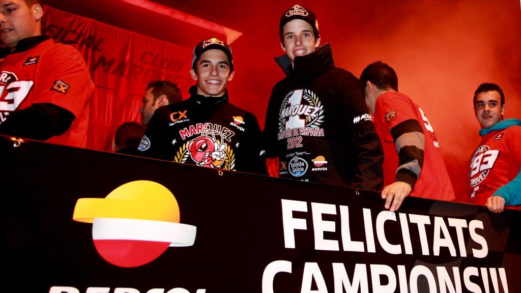 Marc Marquez returns to home town Cervera