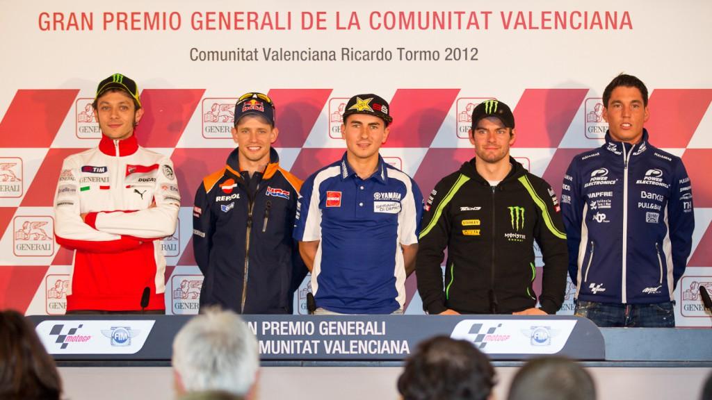 Rossi, Stoner, Lorenzo, Crutchlow, Espargaro, Gran Premio Generali de la Comunitat Valenciana Press Conference