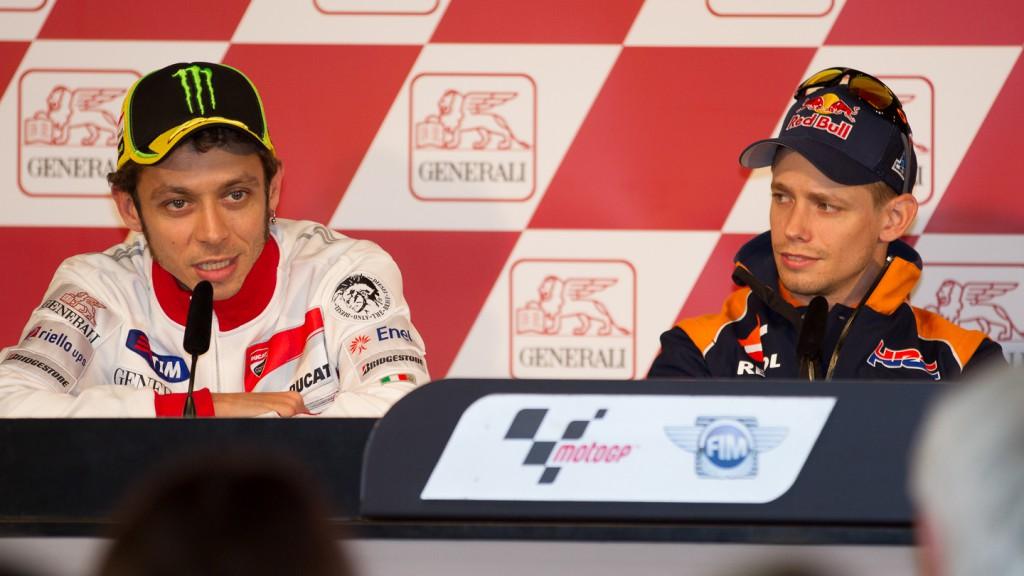 Valentino Rossi, Casey Stoner, Gran Premio Generali de la Comunitat Valenciana Press Conference
