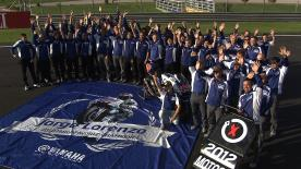 Yamaha unites in Valencia to celebrate Lorenzo's title