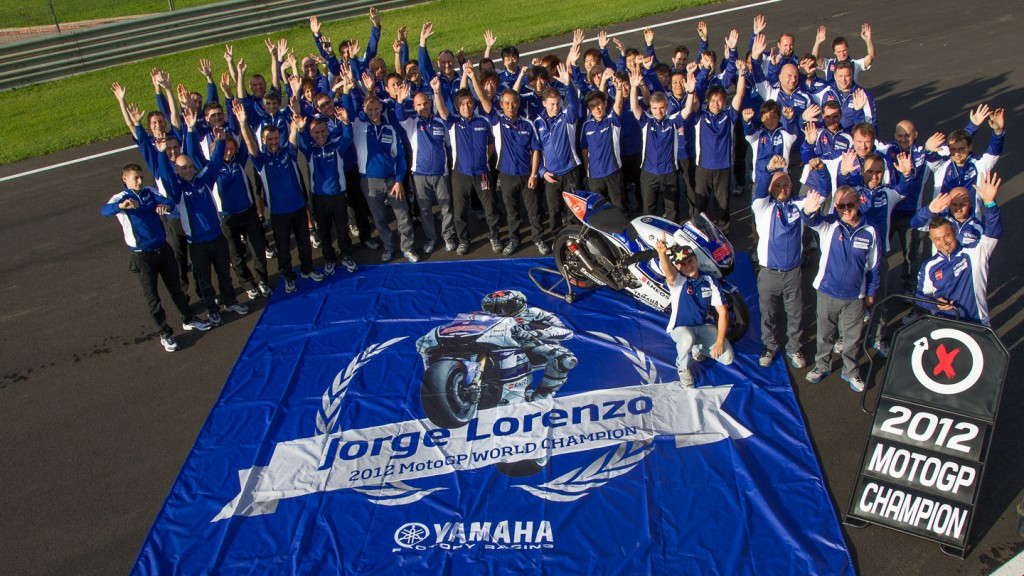 2012 MotoGP World Champion Jorge Lorenzo Yamaha Factory Racing Team