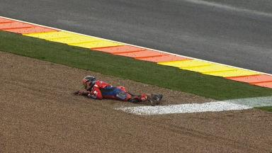 Valencia 2012 - MotoGP - FP1 - Action - James Ellison - Crash