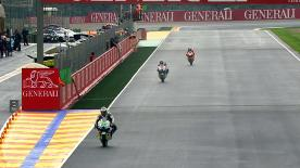 The first free MotoGP™ free practice session for the Gran Premio Generali de la Comunitat Valenciana saw Ducati Team's Nicky Hayden top the timesheet on a rain-hit track in front of Dani Pedrosa and Jorge Lorenzo