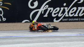 Valencia 2012 - Moto2 - FP1 - Action - Johann Zarco - Crash