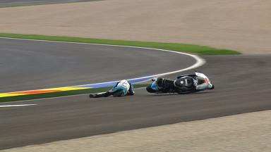 Valencia 2012 - Moto2 - FP2 - Action - Simone Corsi - Crash