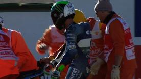 Valencia 2012 - Moto2 - QP - Action - Pol Espargaro - Crash