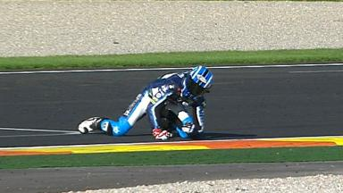 Valencia 2012 - Moto2 - QP - Action - Axel Pons - Crash