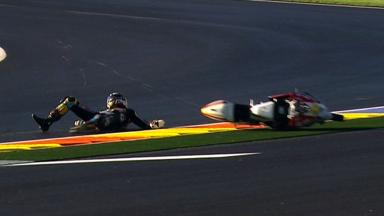 Valencia 2012 - Moto3 - FP3 - Action - Louis Rossi - Crash
