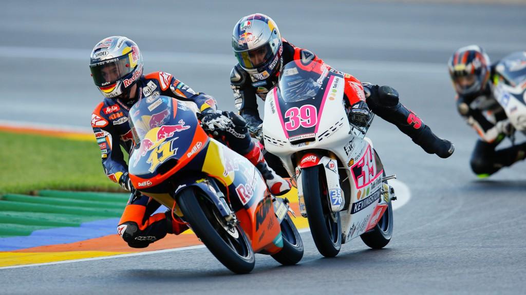 Sandro Cortese, Luis Salom, Red Bull KTM Ajo, RW Racing GP, Valencia FP3
