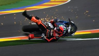 Valencia 2012 - MotoGP - RACE - Action - Claudio Corti - Crash