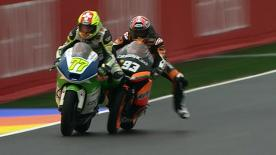 Valencia 2012 - Moto2 - RACE - Action - Aegerter and Marquez
