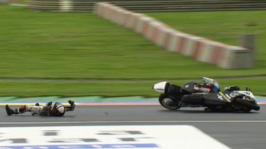 Valencia 2012 - Moto2 - RACE - Action - Granado and Rosell - Crash
