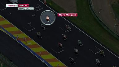 Marquez race start at Valencia
