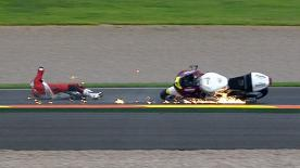 Valencia 2012 - Moto2 - WUP - Action - Takahashi and Sucipto - Crash