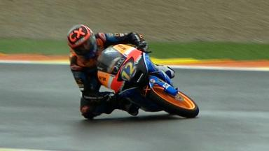 Valencia 2012 - Moto3 - RACE - Action - Alex Marquez - Crash