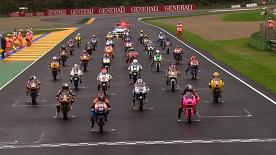 In a thrilling final Moto3™ encounter in the wet at the Gran Premio Generali de la Comunitat Valenciana it was Red Bull KTM Ajo's Danny Kent who put in a stunning ride to take victory ahead of Sandro Cortese and Zulfahmi Khairuddin.