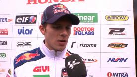 Bradl crashes out of third in Valencia