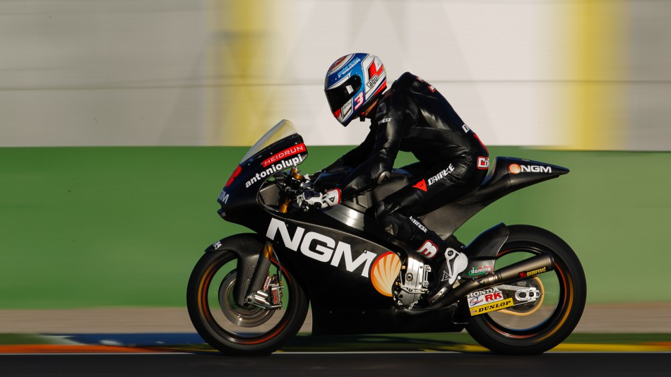 Simone Corsi, NGM Forward Racing, Moto2 Valencia Test