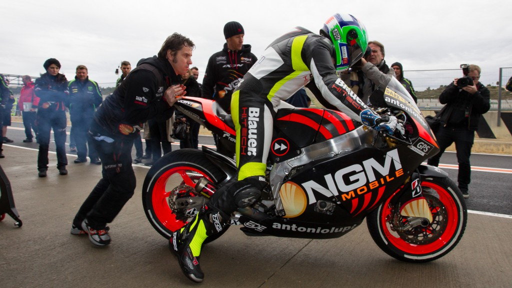 Claudio Corti, NGM Mobile Forward Racing, MotoGP Valencia Test