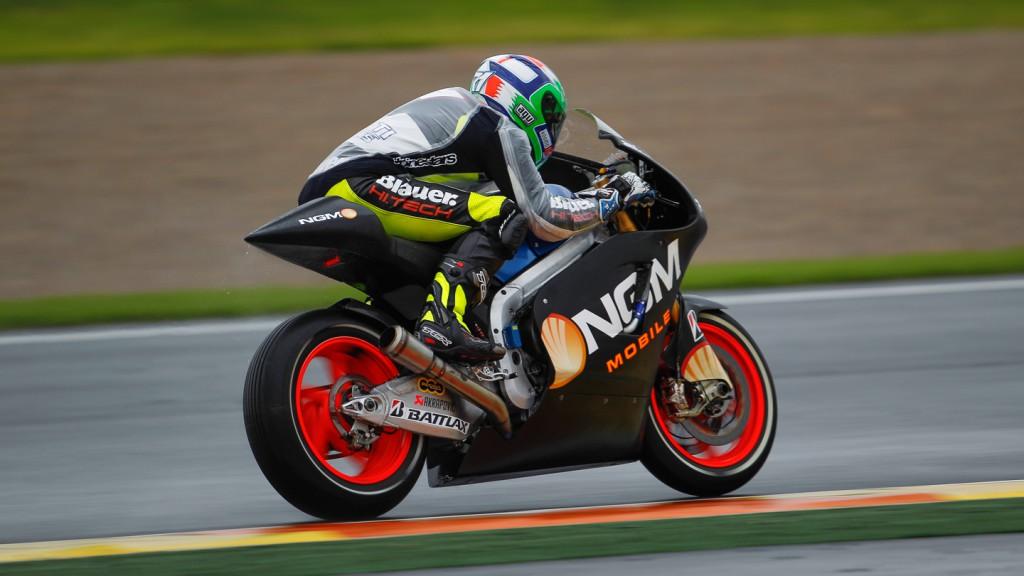 Claudio Corti, NGM Mobile Forward Racing, MotoGP Valencia Test