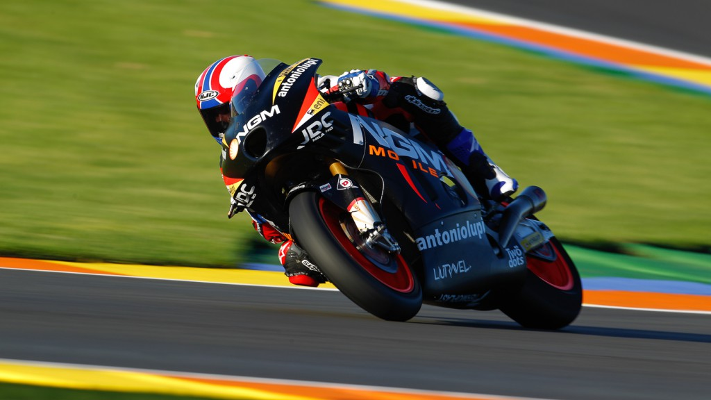 Ricard Cardus, NGM Forward Racing, Moto2 Valencia Test