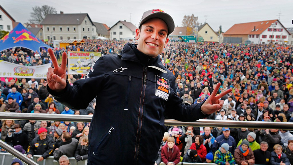 Sandro Cortese celebrates Moto3 World Title in hometown Berkheim