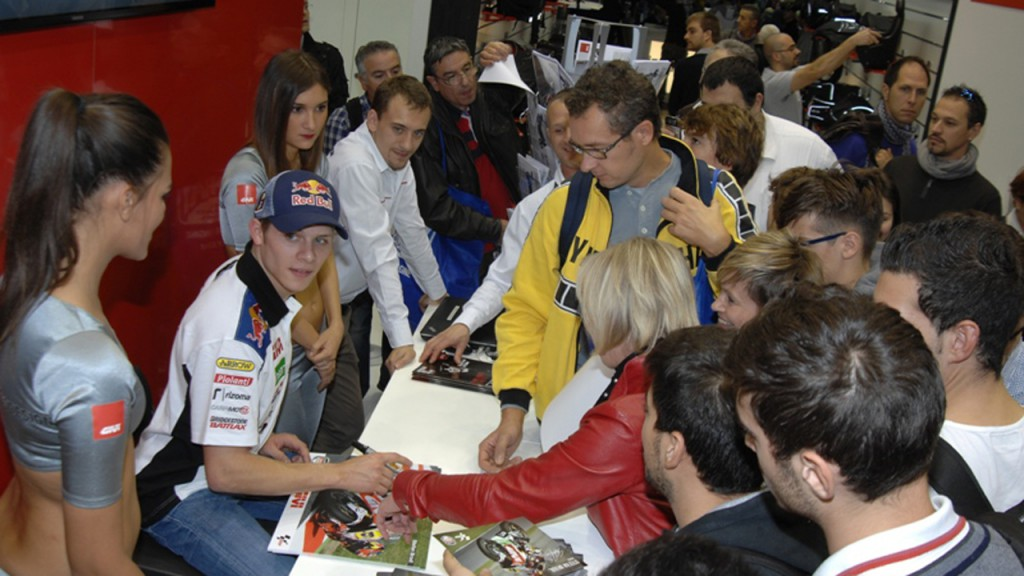 Stefan Bradl at EICMA
