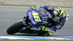 Valentino Rossi's and Sete Gibernau's last lap battle has gone down in history as one of the greatest ever, as the Italian harshly denied the Spanish rider a win on the last corner.