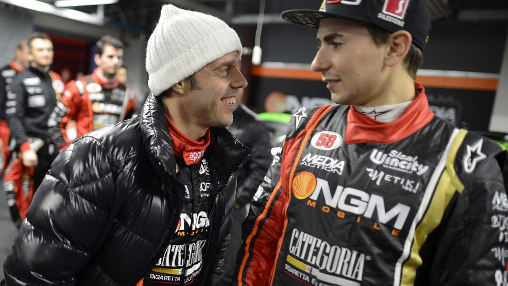 Loris Capirossi and Jorge Lorenzo, 2012 Monza Rally Show