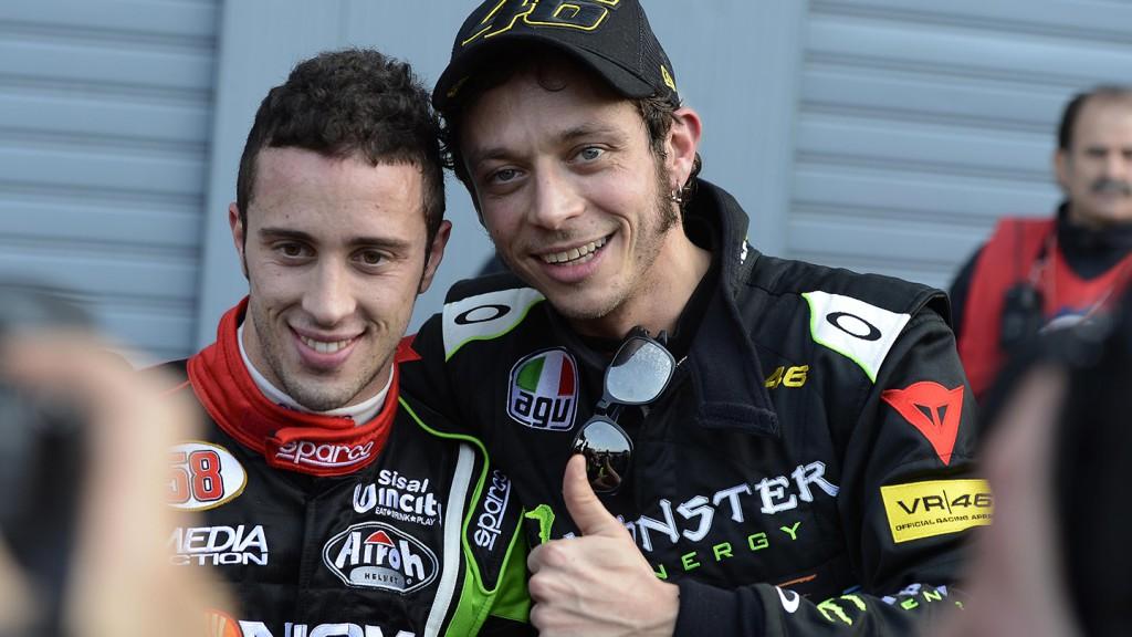 Andrea Dovizioso and Valentino Rossi, 2012 Monza Rally Show