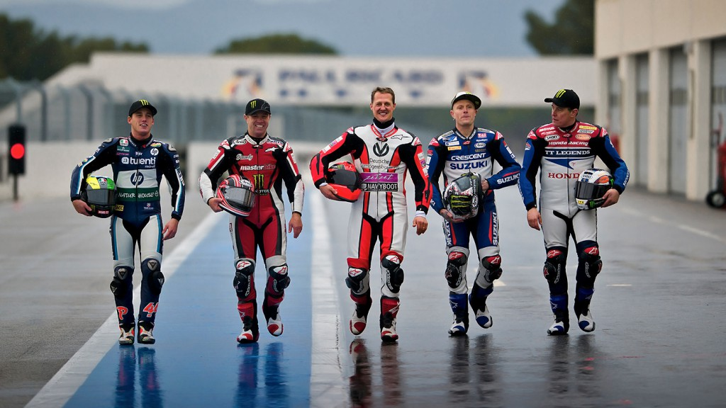 Espargaro, Mamola, Schumacher, Flinty, McGuinness - Paul Ricard Circuit